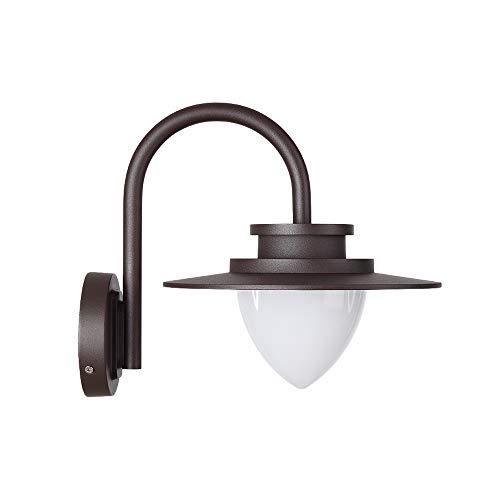 YXLMAONY Lámpara de pared de aluminio y metal, estilo nórdico, luz industrial impermeable para exteriores, luces LED de pared decorativas para dormitorio, mesita de noche, sala de estar, oficina, gran