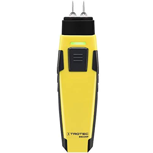 TROTEC 3510206025 appSensor Moisture Meter Feuchtigkeitsmesser für Materialien BM22WP mit Smartphone, Messung der Luftfeuchtigkeit von Holz und Material mit einem Gerät, Schwarz, Normal