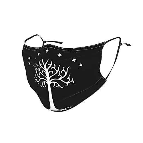 Lotr Tree Of Gondor - Máscara facial bufanda, lavable, transpirable, reutilizable, ajustable, para adultos y hombres al aire libre