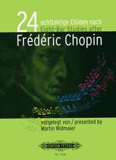 24 achttaktige Etueden nach Chopin - arrangiert für Klavier [Noten / Sheetmusic] Komponist: Widmaier Martin