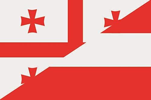 U24 Aufkleber Georgien-Österreich Flagge Fahne 8 x 5 cm Autoaufkleber Sticker