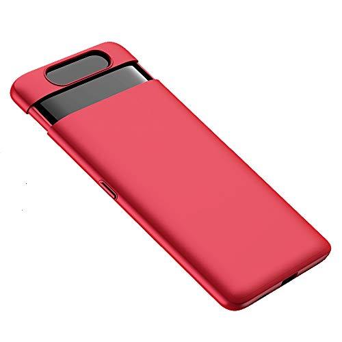 Funda Compatible con Samsung Galaxy A80 Teléfono Móvil Silicona Bumper Case y Flexible Resistente Ultra Slim Anti-Rasguño Protectora Caso (Rojo, A80)