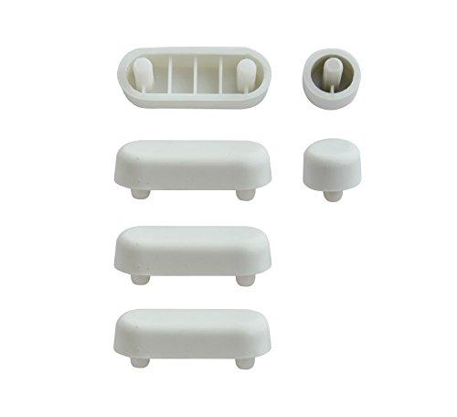 SITZPLATZ® WC-Sitz-Puffer Nr. 11 | Auflagestopfen für Toilettensitz | Abstandhalter für WC-Brille | Dämpfer | Weiß | Kunststoff