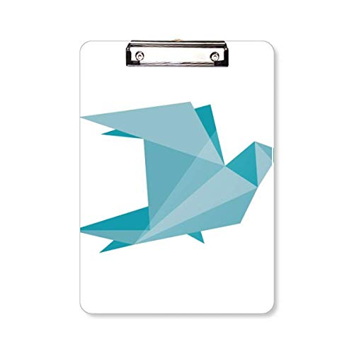 Groene Origami Abstract Duif Patroon Klembord Folder Schrijven Pad Backing Plaat A4