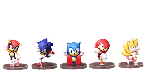 LINGJIA Sonic Shadow 5 Stück/Jede Charge Sonic Figures Spielzeug Shadow Tail Cream Rouge Knuckle Amy Rose Kindertierspielzeug für Kinder