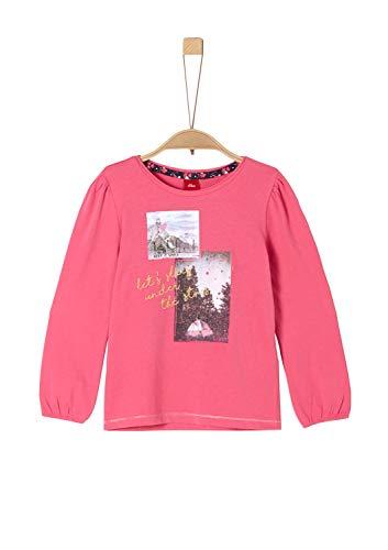 s.Oliver Mädchen 53.909.31.8965 Langarmshirt, Rosa (Pink 4543), 128 (Herstellergröße: 128/134/REG)