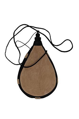 Erlebnis Mittelalter – Bota Trinkflasche aus Leder traditioneller Trinkschlauch (gerade, klein)