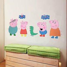 Große Peppa Pig Wand Aufkleber Kinder Schlafzimmer Kinderzimmer Decor Art Wandbild Aufkleber UK Lager