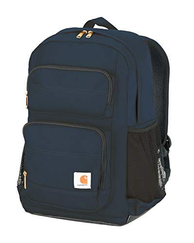 Carhartt Legacy Standard Work Backpack with Padded Laptop Sleeve and Tablet Storage Navy Medium