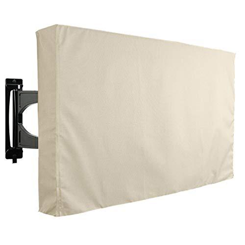 Garneck - Cubierta de televisión Resistente a la Intemperie para Exteriores (Resistente al Polvo, paño Protector de TV para Proteger su televisor de 65-70 Pulgadas), Color Negro