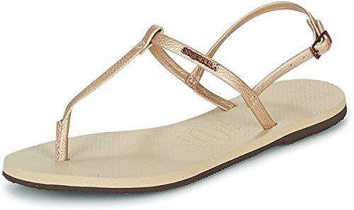 Havaianas - Sandalias de Caoutchouc para mujer Beige beige
