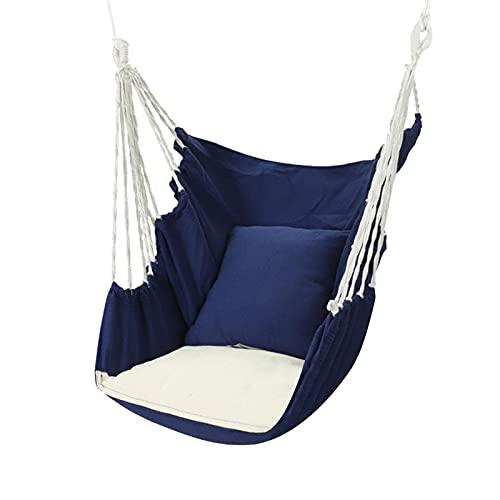 ZBZB Silla de Hamaca para Colgar al Aire Libre, Silla de Ocio Silla Mecedora, Silla Colgante de Swing de Hamaca para Playa, Camping, Debajo del árbol