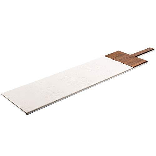 KnIndustrie - Tabla de cortar (18 x 79 cm), color blanco