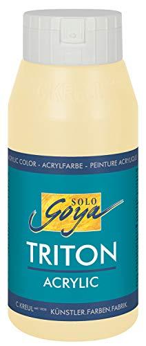 Kreul 17031 - Solo Goya Triton Acrylfarbe beige, 750 ml Flasche, schnell und matt trocknend, Farbe auf Wasserbasis, in Studioqualität, vielseitig einsetzbar, gut deckend und ergiebig