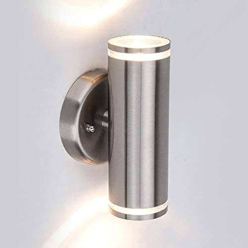 LUTEC LED Aussenleuchte, Wandleuchte Edelstahl, Up Down 11.5W Warmweiß Außenwandleuchten