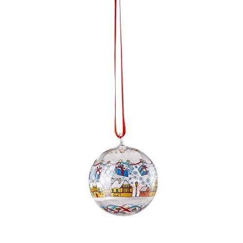 Hutschenreuther Glas-Kugel Weihnachtsmarkt Ø 6 cm Glaskugel, Bunt
