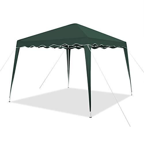 Faltbarer Pavillon 3x3m inkl. Tasche | wasserabweisend, UV 50+ Schutz | Pop Up Zelt, Faltpavillon Gartenzelt, Partyzelt, Capri (Grün)