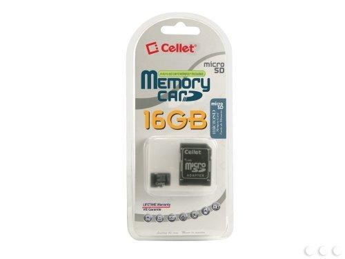 cellet tarjeta LG E400Micro SDHC de 16GB es Custom formateado para Digital de alta velocidad, sin grabación. Incluye adaptador SD estándar.