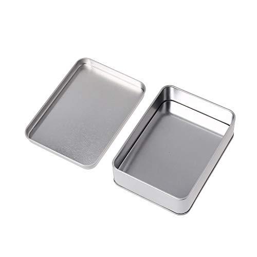 Yintiod Mini metalen blikje zilveren opbergdoos voor geld, munt, snoepsleutel