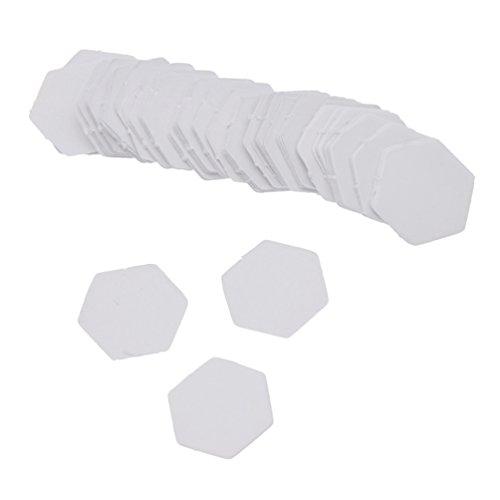 Kesheng 100x Papier Hexagon Sechseck Schablone Weiß für Patchwork Näharbeit DIY (26mm)