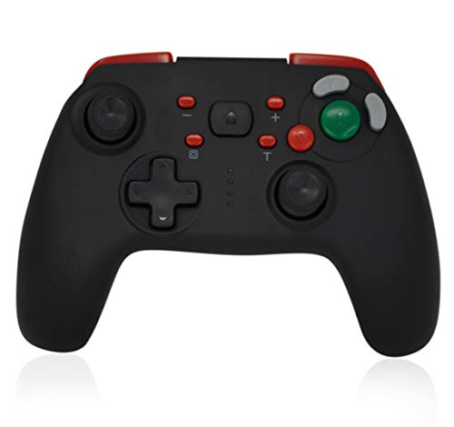CHASDI GC Switch Wireless Pro Controller with GC Button Layout Compatible with Nintendo Switch Console (Red)