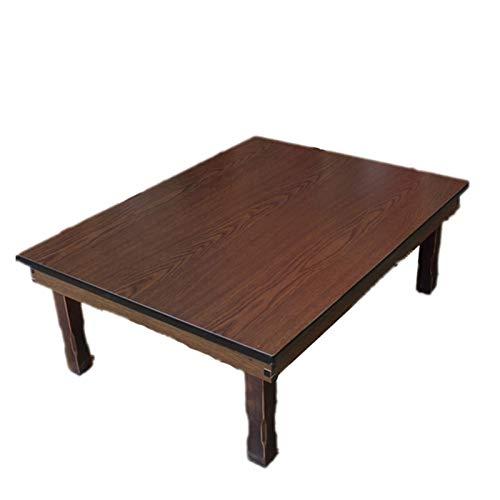 ZHUSHI Rechteck 90X75cm Koreanischer Couchtisch Klappbein Asiatischer Antiker Stil Wohnzimmermöbelboden Traditioneller Esstisch Holz