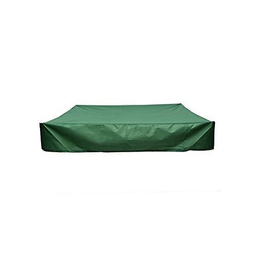 Dyda6 Housse de protection anti-poussière pour bac à sable avec cordon de serrage en tissu Oxford imperméable multifonction pour bac à sable extérieur jardin (120 x 120 cm)