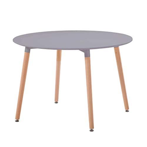 milani home Tavolo da Interno di Design scandinavo in plastica e Legno ø 120
