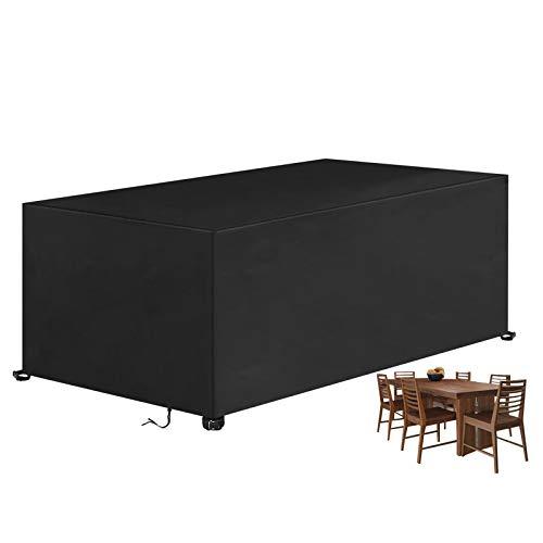 BACKTURE Coperture per Mobili da Giardino, 420D Oxford Stoffa Copertura Tavolo Esterno Rettangolare, Telo Copri Impermeabili per Tavolo e Sedie da Esterni