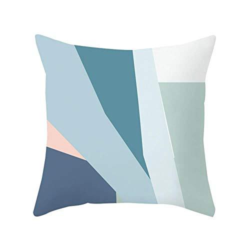 YIXIA Net Red Small Fresh Matisse Series - Funda de cojín de piel de melocotón impresa para sofá, cama, silla, decoración del hogar, una venta (excepto almohadas)