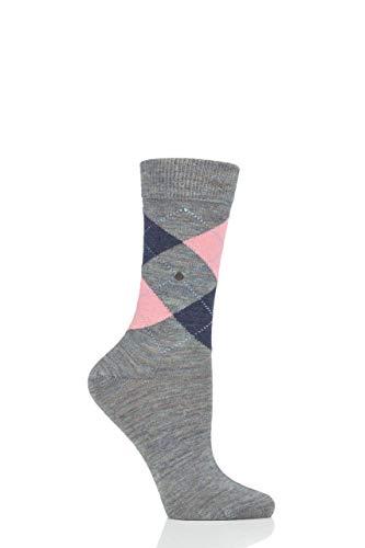 Burlington Damen Melange Marylebone W Socken, blau (Smoke Blue Mel. 6336), Einheitsgröße (DE 36-41)