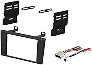 Car Stereo Dash Install Mount Kit and Wire Harness for Installing an Aftermarket Double Din Radio for 2004-2005 Ford Thunderbird and 2003-2006 Lincoln LS (no Factory nav Vehicles)