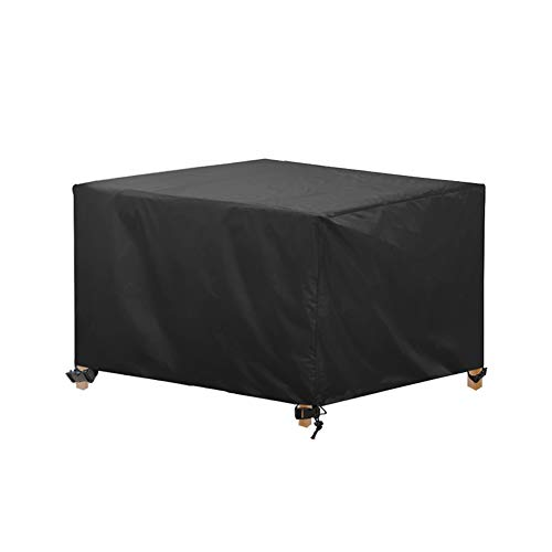 AWNIC Funda Mesa Cuadrada Jardín Funda Muebles Patio Terraza Impermeable Tela Oxford Resistente al Desgarro 125X125X71cm