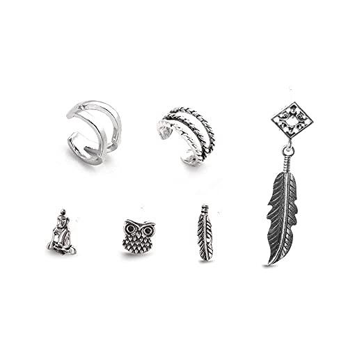 Orecchini alla moda per donne e ragazze, stile boho, orecchini in rattan, stile etnico alla moda, orecchini pendenti in argento, idea regalo per compleanno e tutti i giorni