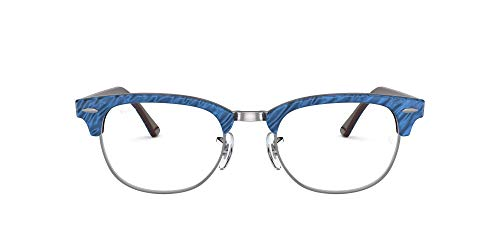 Ray-Ban Clubmaster-0rx51548052 Gafas, WRINKLED BLUE ON BROWN, 51 Unisex