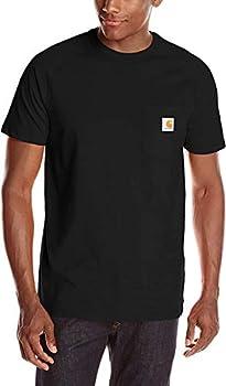 Carhartt Men s Force Cotton Delmont Short Sleeve T-Shirt  Regular and Big & Tall Sizes  Black X-Large
