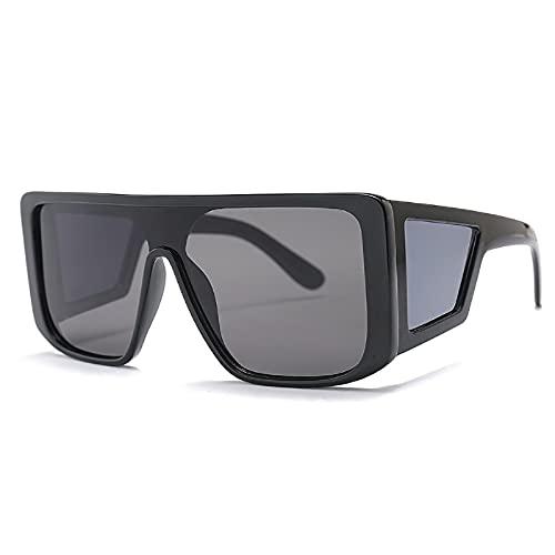 NBJSL Gafas de sol cuadradas de cuatro lentes de moda para hombres y mujeres Gafas de sol con protección UV Exquisito empaque de regalo