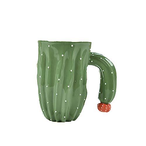WNLBLB Cactus keramische beker paar beker, sap beker naar vriendin vriend vriendinnen klasgenoten sturen 2