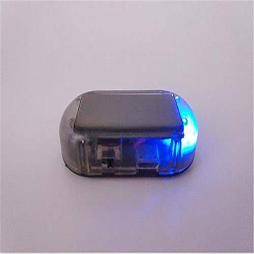 NUIOP Fausse énergie Solaire Alarme de Voiture Lampe de sécurité Système d'alerte vol Flash Clignotant Attention Antivol LED d'avertissement éclair Ornements Voiture (Color Name : Blue)