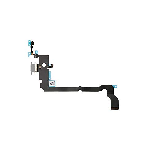 Best Shopper - Replacement Charging Port Flex Cable Compatible with Apple iPhone Xs Max - Silver