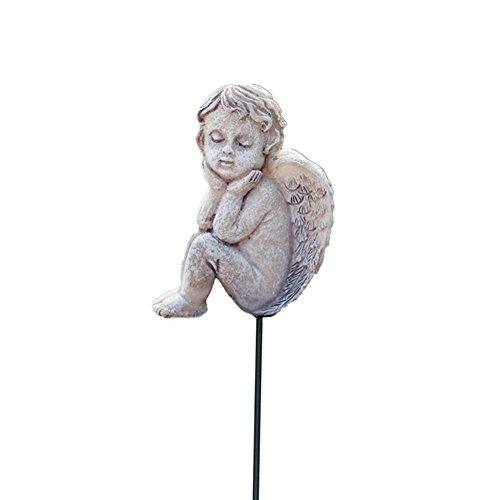 MUAMAX Mini Angel Garden Miniature Angel Ornaments Outdoor Little Cherub Figurines Decoration Graden Decorative Accessories (Grey)