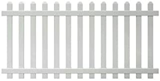 4 ft. x 8 ft. Vinyl Glendale Spaced Picket Fence Panel with Dog Ear Pickets - Unassembled