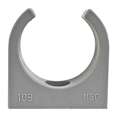 25 Stück Klemmschelle M5 Langloch, Quickschelle, Rohrschelle M50 KuPa Stangen für Kunststoffrohr