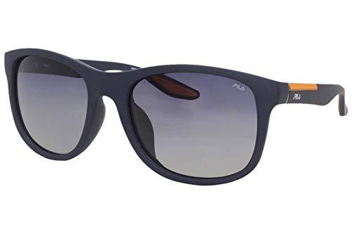 Fila SF9250 D82P - Gafas de sol para hombre, color azul marino, polarizado, rectangular, 55 mm