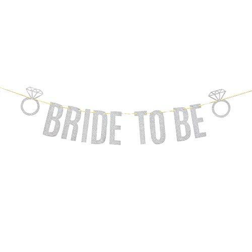 Silver Bride to Be Banner, Bridal Shower Decorations, Engagement/Bachelorette/Wedding Party Decor