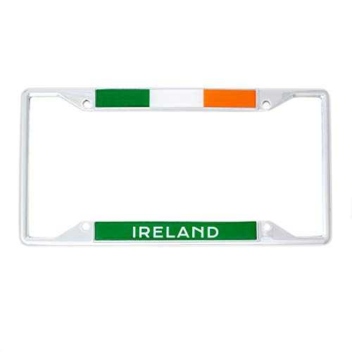 Desert Cactus Country of Ireland Irish Flag License Plate Frame for Front or Back of Car Vehicle Truck Irish