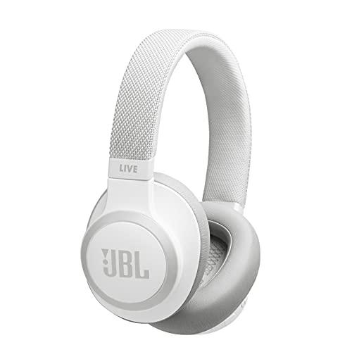 JBL LIVE 650BTNC - Auriculares Inalámbricos con Bluetooth y cancelación de ruido, sonido de calidad JBL con asistente de voz integrado, hasta 30h de música, blanco