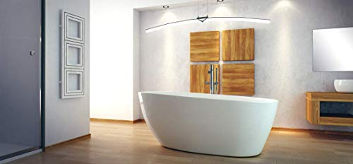 Besco Goya 160x70cm exklusive freistehende Badewanne + Ablaufgarnitur Click Clack Badewanne aus Marmorkonglomerat (Badewanne mit Standard Abfluss)