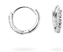 JGOODIN Classic Tiny Hoop Earrings Silvertone