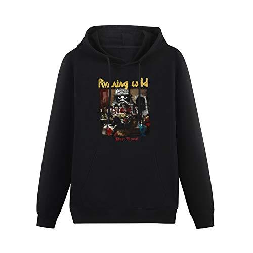 Men's Pullover Running Wild Port Royal X Wild Grave Digger Rage Helloween Single-Side Print Sweater Black XXL